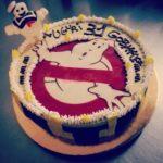 Torta gelato Ghostbuster con omino marshmallow in pasta di zucchero