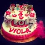 Torta di compleanno Lol Surprise. Torta gelato